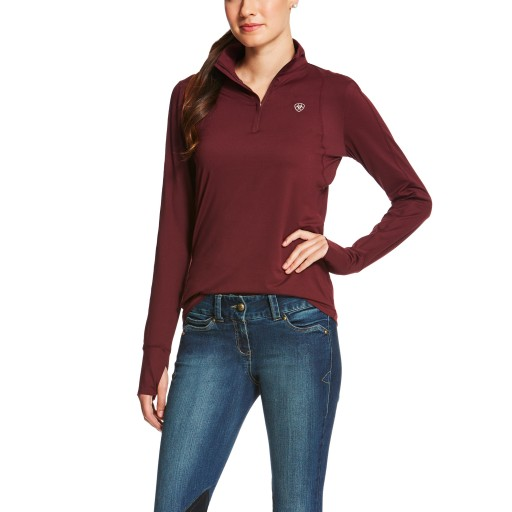 Ariat Lowell 1/4 Zip Tek Top Malbec