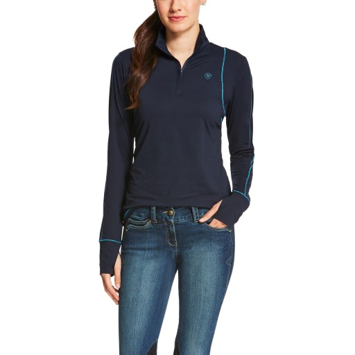 Ariat Lowell 1/4 Zip Tek Top Navy