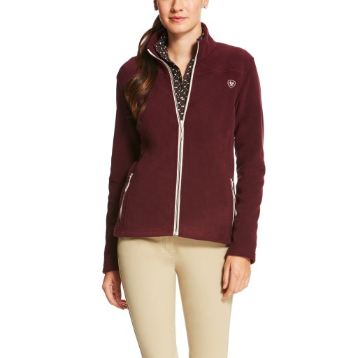 Ariat Basis Full Zip Fleece Top Malbec