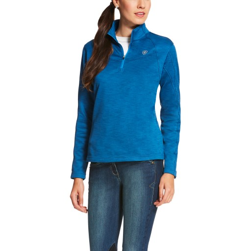 Ariat Conquest 1/4 Zip Tek Top Rush Blue