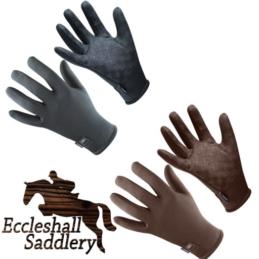 Woof Wear Power Stretch Gloves Black or Chocolate Riding Gloves