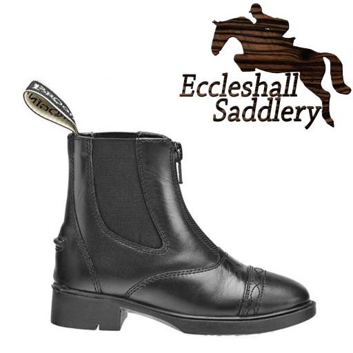 Brogini 401 Tivoli Leather Front Zip Children's Jodhpur Boots