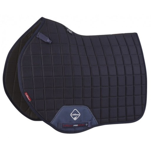 Le Mieux 3D Mesh Air Euro Jump Square Saddle Pad Navy