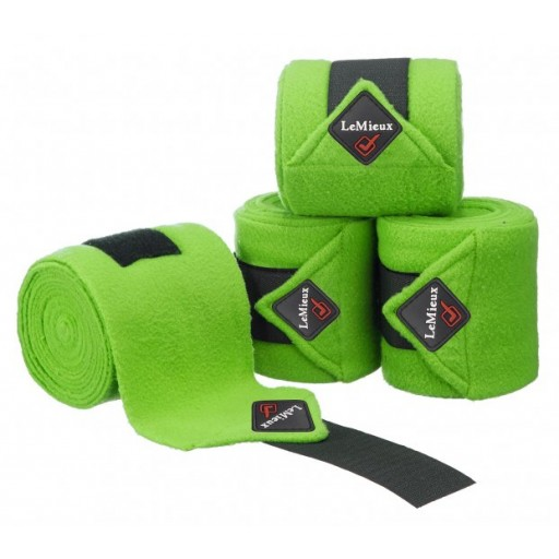Le Mieux Luxury Pony Size Polo Bandages Lime Green Set of 4