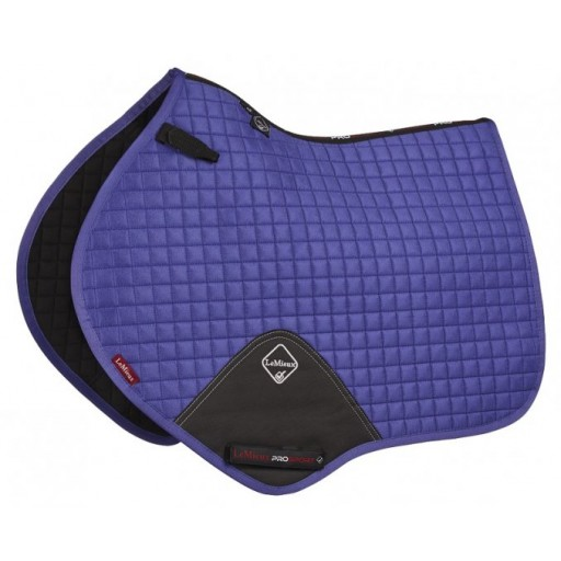Le Mieux ProSport Lustre Suede Close Contact Square Blueberry Saddle Pad