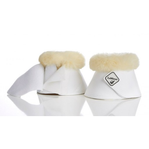 Le Mieux Lambskin WrapRound Over Reach Boots White