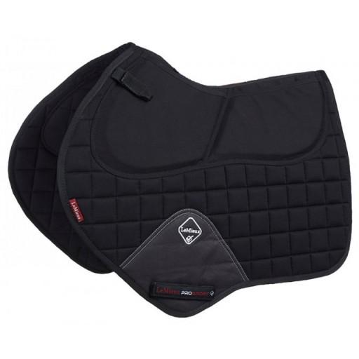 Le Mieux Pro-Sorb Plain Close Contact Square Saddle Pad with Raisers Black