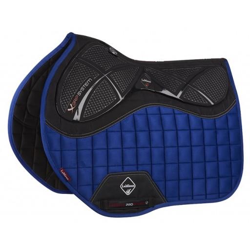 Le Mieux X-Grip Euro Jump Square Horse Saddle Pad Benetton Blue