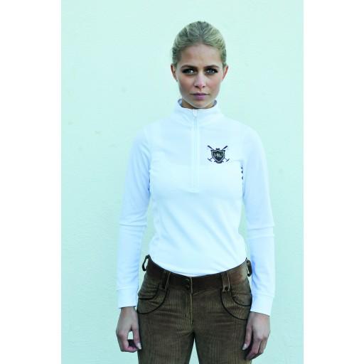 Horseware Elena Long Sleeve Technical Top White