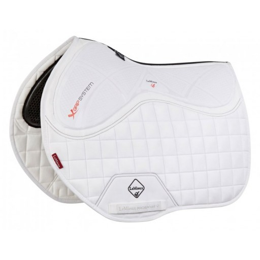 Le Mieux X-Grip Twin Sided Euro Jump Square White Saddle Pad