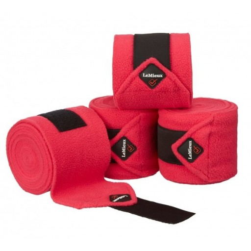 Le Mieux Luxury Polo Bandages Fuchsia Set of 4