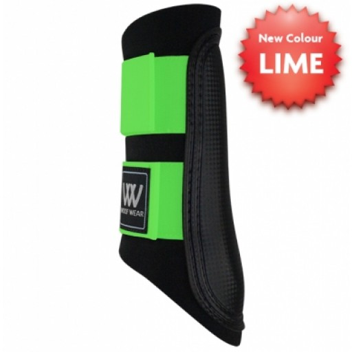WoofWear Club Brushing Boots Black with Lime