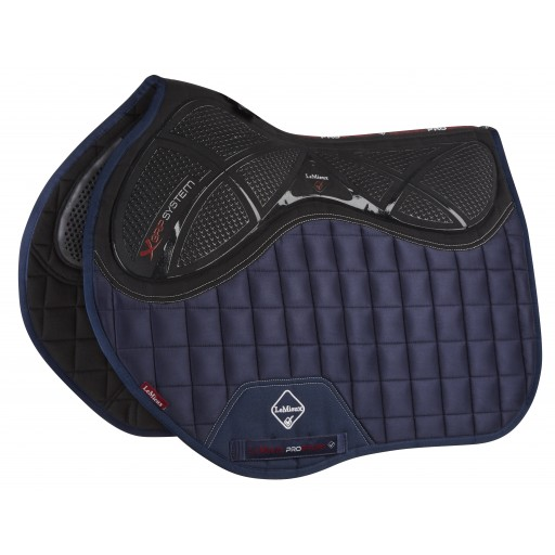 Le Mieux X-Grip Twin Sided Euro Jump Square Navy Saddle Pad