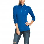 Ariat Cadence Wool 1/4 Zip Top Rush Blue