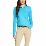 Ariat Lowell 1/4 Zip Tek Top Barrier Blue