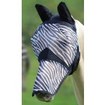 Shires Fine Mesh Fly Mask with Ears and Nose Zebra