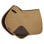 Le Mieux ProSport Suede Close Contact Square Caramel Saddle Pad