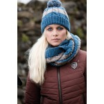 Horseware Knitted Hat and Snood Set Blue Jean