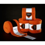Le Mieux Hi-Visibility Polo Bandages Tangerine PONY Size