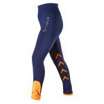 Firefoot Ripon Ladies Stretch Breeches Navy/Orange Riding Tights