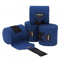 Le Mieux Luxury Pony Size Polo Bandages Midnight Blue Set of 4