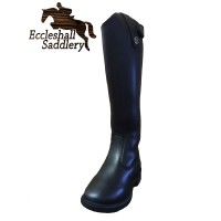Brogini Childs Synthetic Long Black Riding Boots