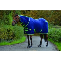 WeatherBeeta Fleece Cooler Combo Neck Travel Rug Navy/Lime