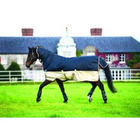 Horseware Mio All-In-One Turnout Rug 350g Navy/Tan