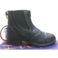 Firefoot Children's Leather Zip Jodhpur Boots Black