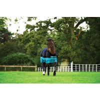 Horseware Mio Turnout Medium Weight 200g Black/Turquoise