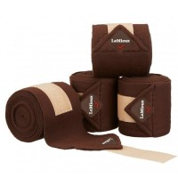 Le Mieux Luxury Polo Bandages Brown/Beige Set of 4