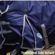 WeatherBeeta ComFiTec Essential Combo Neck Medium Weight Turnout Grey/Violet/Yellow